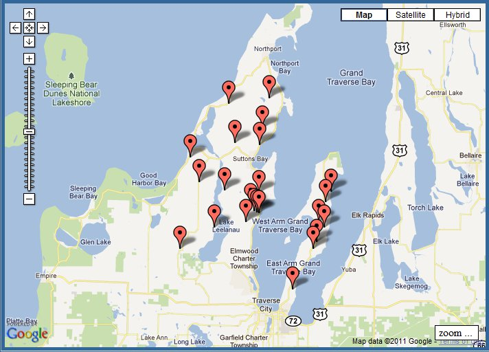 Traverse City Wine Tour Map