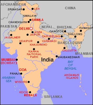 agra india mapa