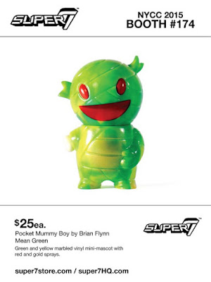 "New York Comic Con 2015 Exclusive ""Mean Green"" Pocket Mummy Boy Vinyl Figure by Super7"