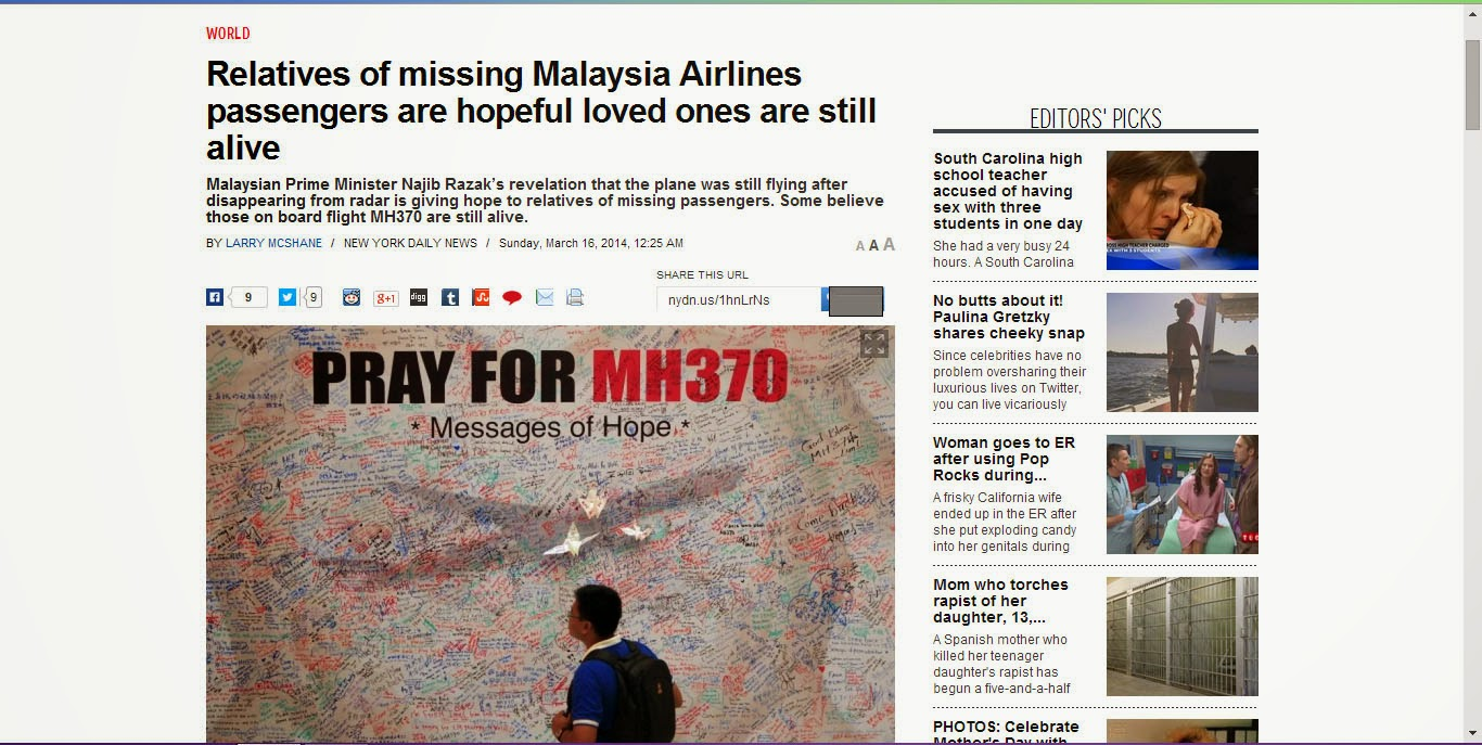 http://www.nydailynews.com/news/world/relatives-missing-malaysia-airlines-passengers-hopeful-article-1.1723195