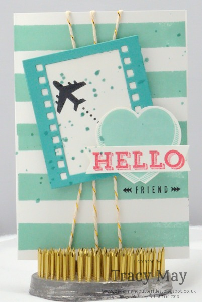 Stampin up Peachy Keen Around the World card making ideas Tracy May