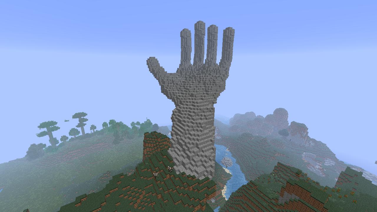 Minecraft Building Ideas Giant Hand