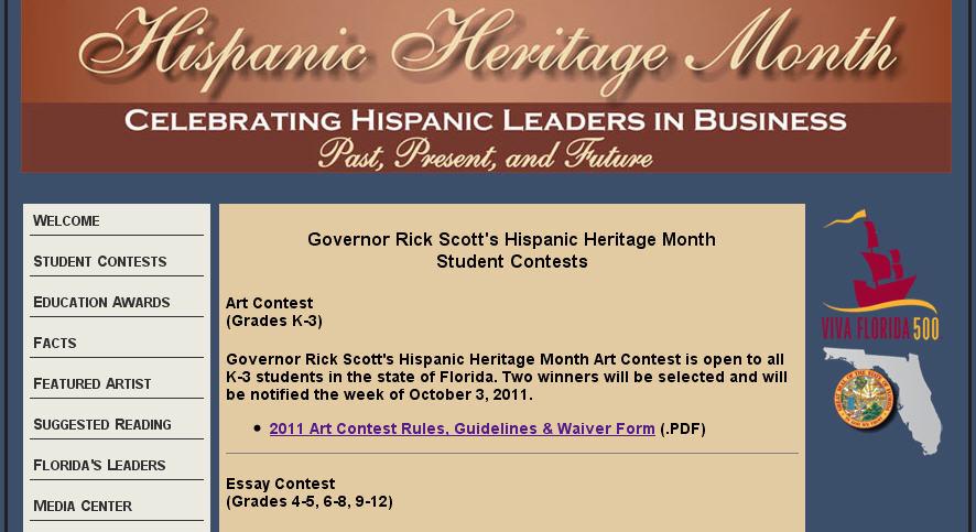 Florida Hispanic Heritage Month Essay