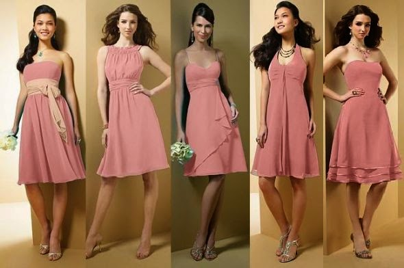 same color but different styles why if you hate the bridesmaids to wear uniform clothing but still want their clothing matched - Bridesmaid Dresses Same Color Different Style