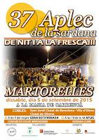 37è.APLEC DE LA SARDANA A MARTORELLES - Dissabte 5 de setembre de  2015.