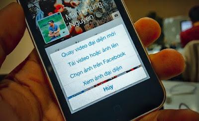 Cách dùng video làm hình đại diện facebook