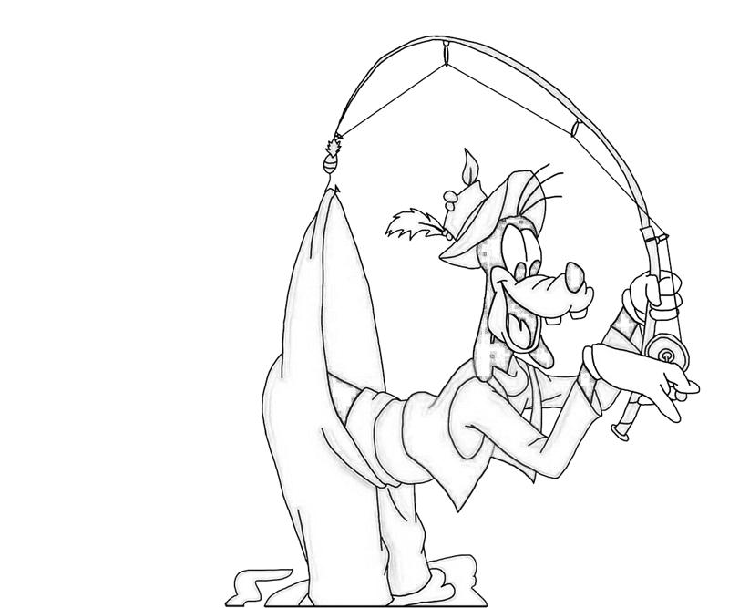 Goofy Fishing | Nintendo Wee Goofy Fishing Coloring Pages