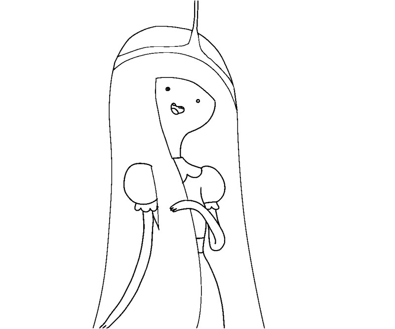 Adventure Time Coloring Pages Princess Bubblegum : Free princess bubblegum coloring pages