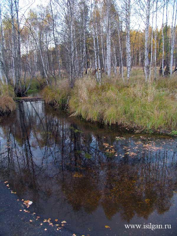 Река Сак-Элга (Сак-Елга). Город Карабаш. Челябинская область