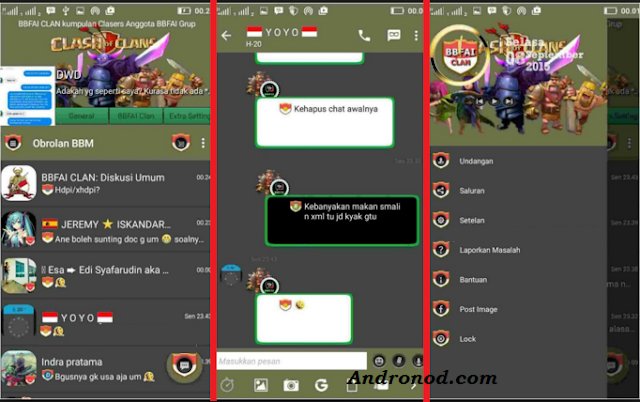 BBM Mod Themes Clash Of Clans Version 2.10.0.31 Apk New Update