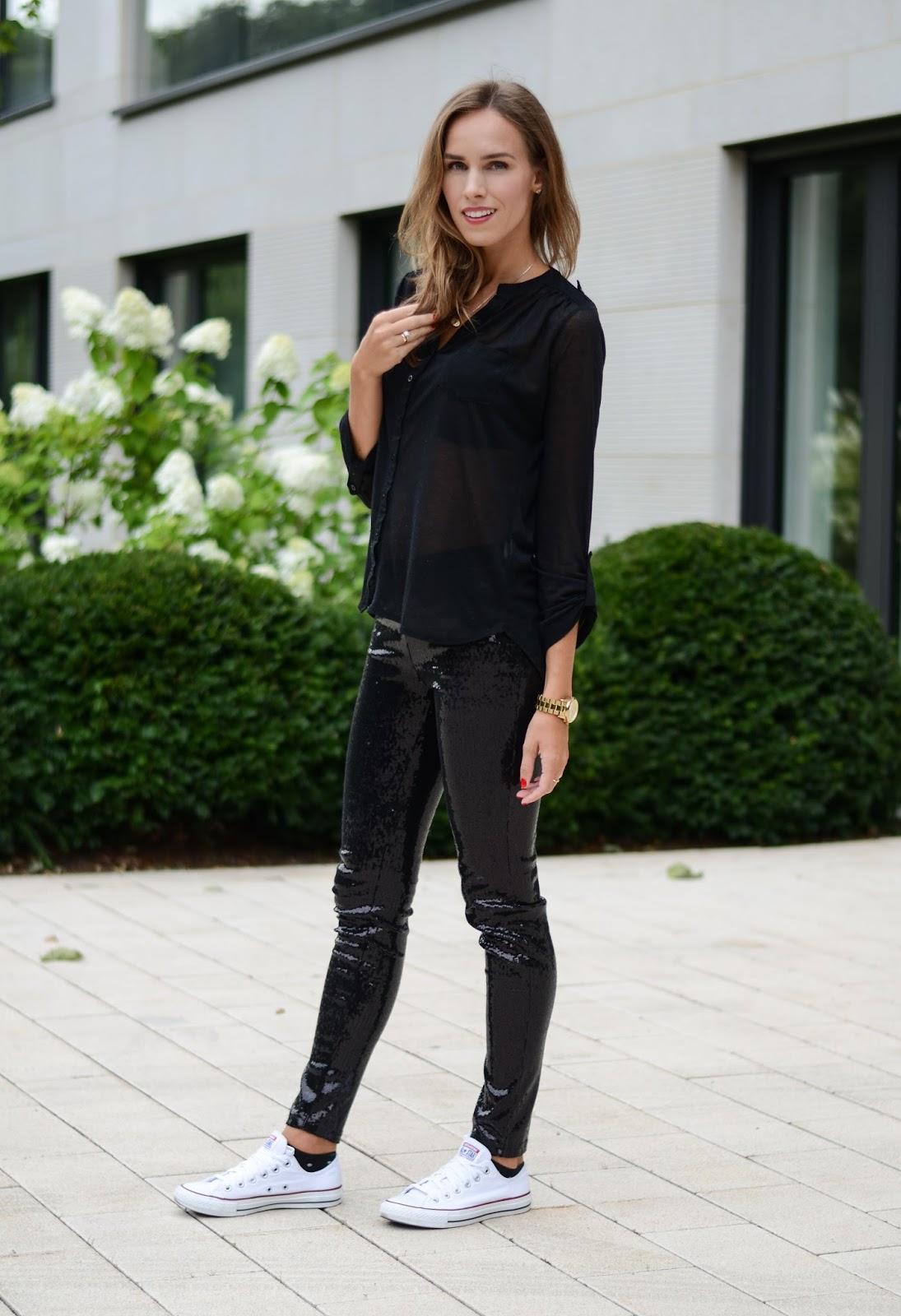 kristjaana mere black sequin pants