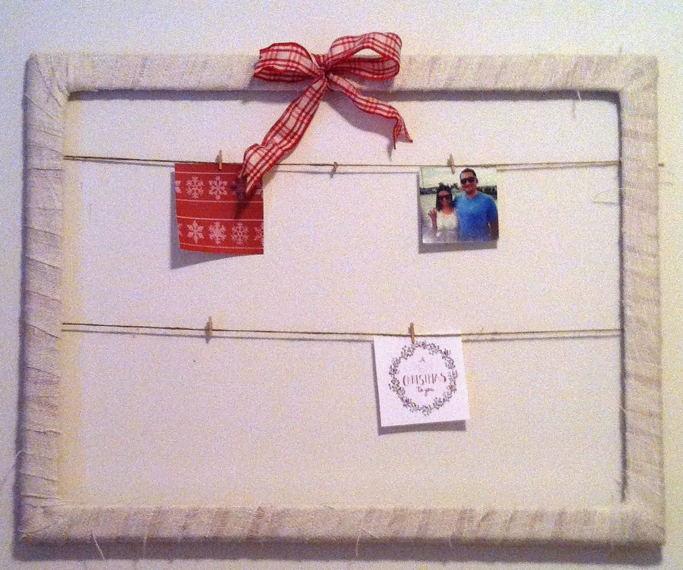Jessica Stout Design}: DIY Burlap Picture Frame {For the Holidays}