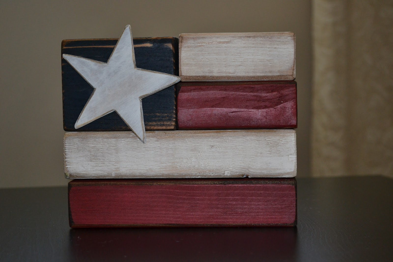 4x4 Wood Crafts In My Not So Spare Time Chunky Flag