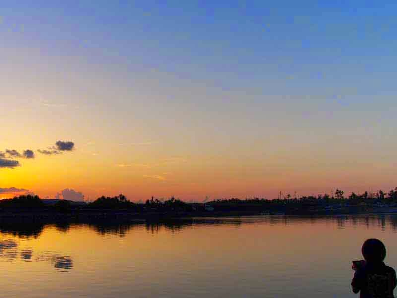silhouette,photographer,sunset