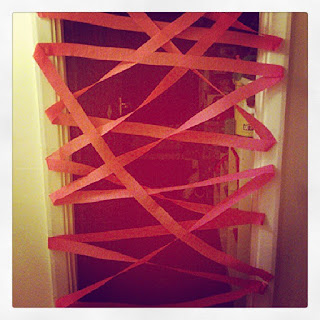 Crepe Paper Birthday Door