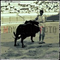 PACO NAVARRO, TAMBIÉN CONOCIDO COMO CURRO ALARCONES, TOREANDO EN HELLÍN. AÑO 1961