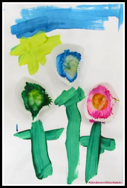 photo of: Spring Flowers on the Bulletin Board at RainbowsWithinReach