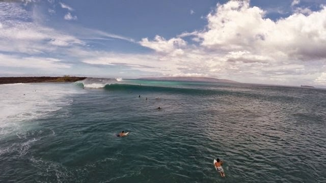 South Maui Surfing with Drone