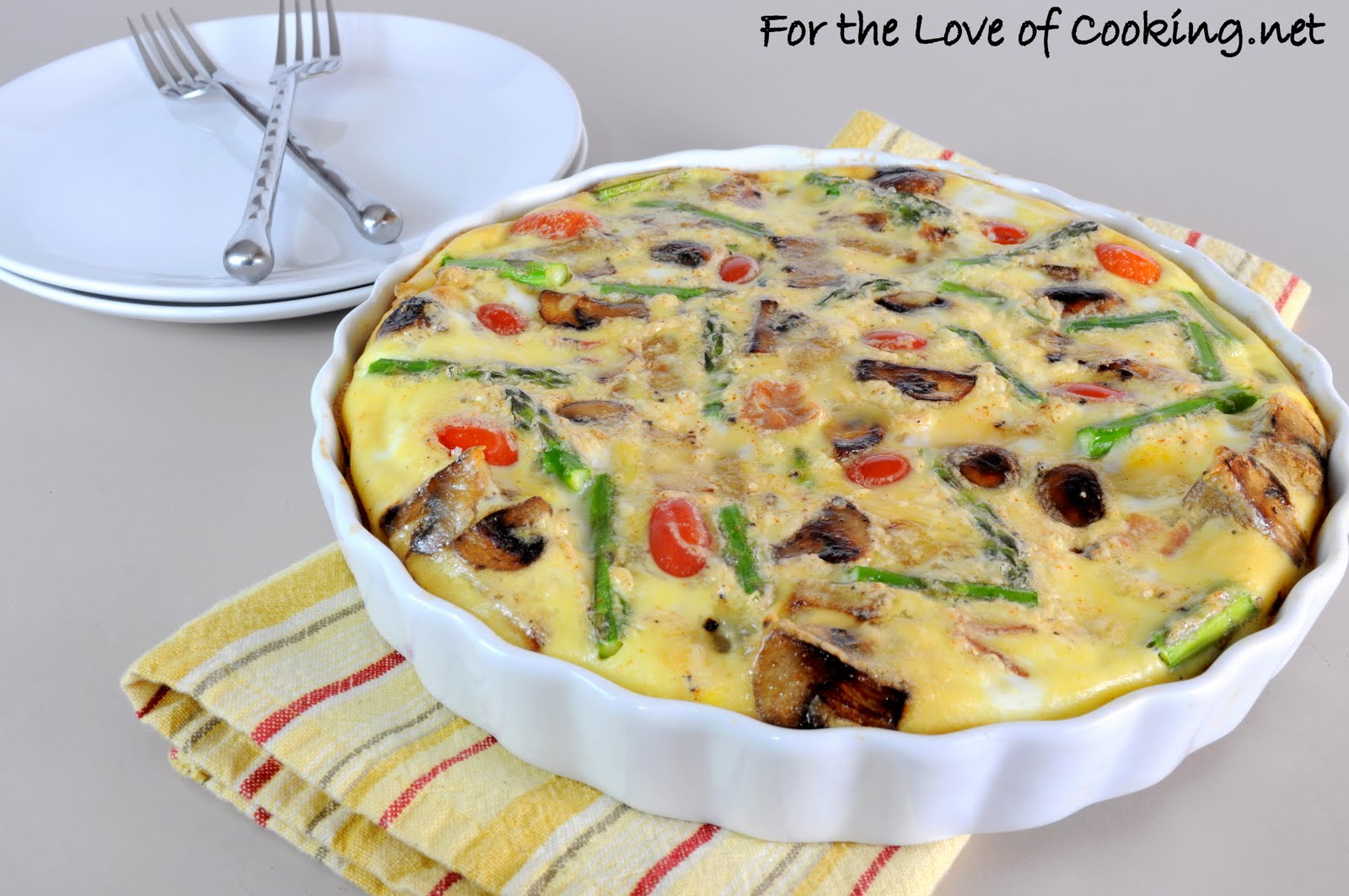 Frittata with Asparagus, Bacon, Asiago, Potatoes, and ...
