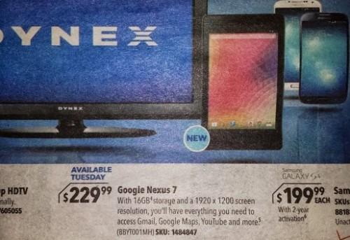 Secondo un volantino pubblicitario il nuovo Nexus 7 di seconda generazione dovrebbe avere un display da 7 pollici e risoluzione 1920 x 1200 pixel