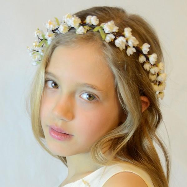 diademas y coronas de flores para niñas