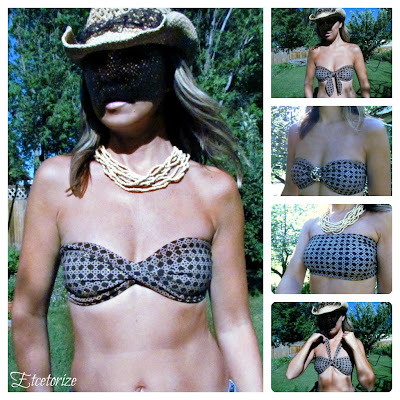 DIY Bikini, #bikini, Make your own bikini top, easy sewing, #free sewing