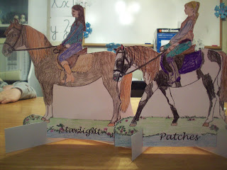 Paper horses of Isabel and Princess Katie