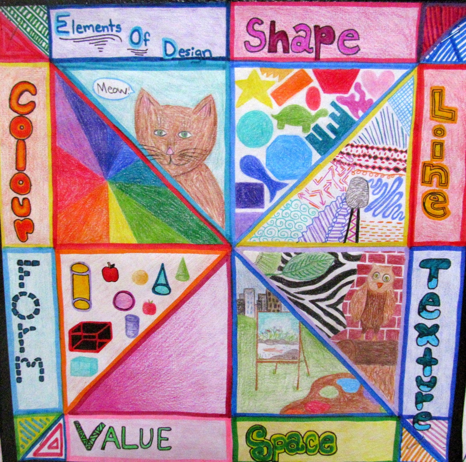 7 Elements Of Visual Arts : Ms eaton s phileonia artonian elements of art radial review