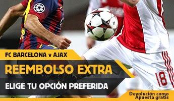 betfair reembolso 25 euros especial Barcelona vs Ajax 21 octubre