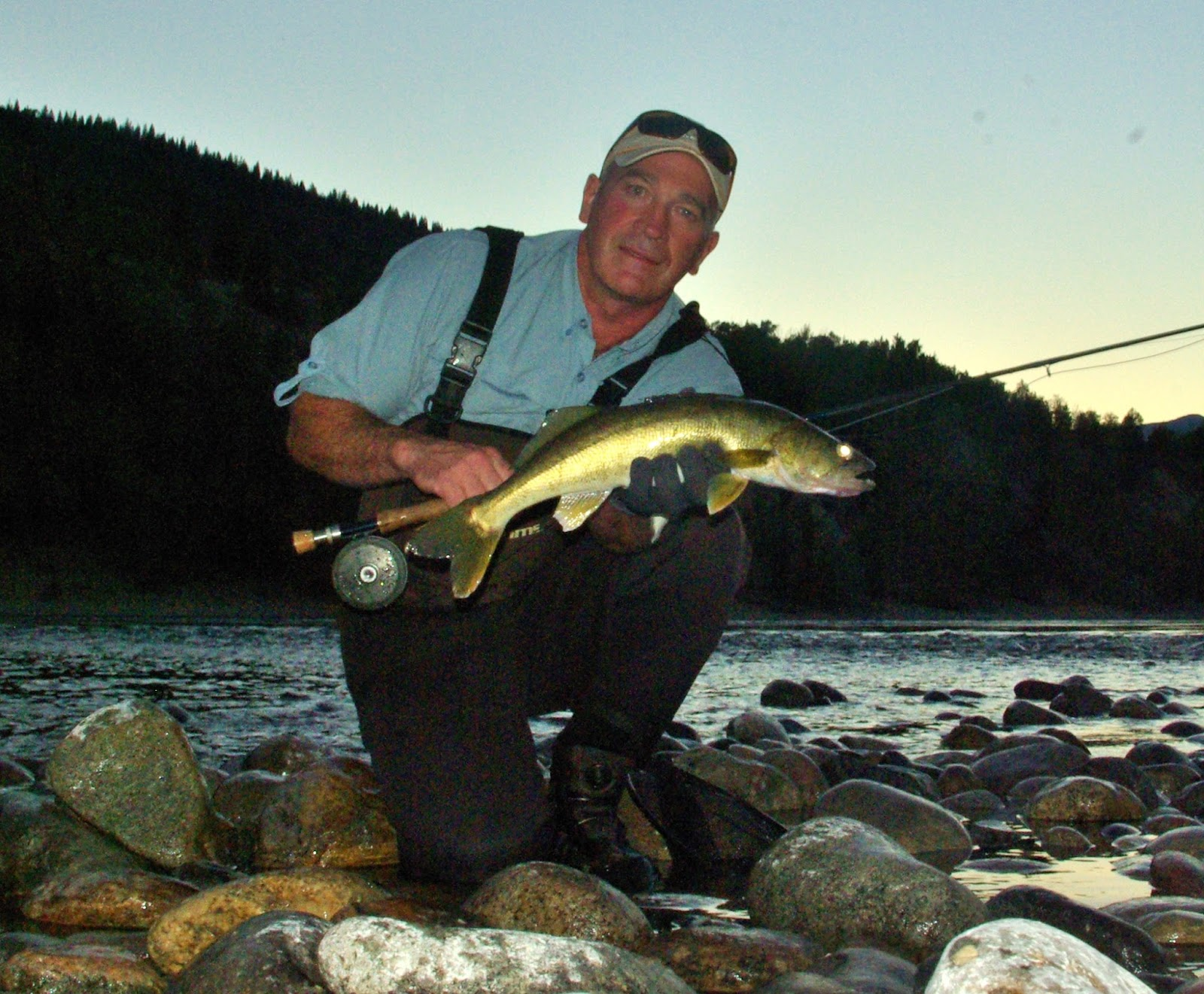 Fly fish bc columbia river walleye on the fly for Walleye fishing columbia river