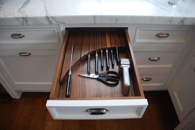 in drawer knife block