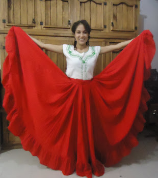 falda para danza regional