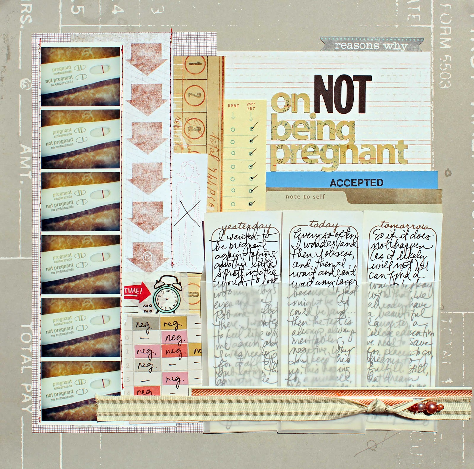Scrapbook ideas list - As I Shared When I First Posted This At Two Peas Usually When Scrappers Share Images Of Pregnancy Tests The Tests Are Positive