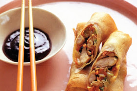 How to make Chicken and vegetable spring roll