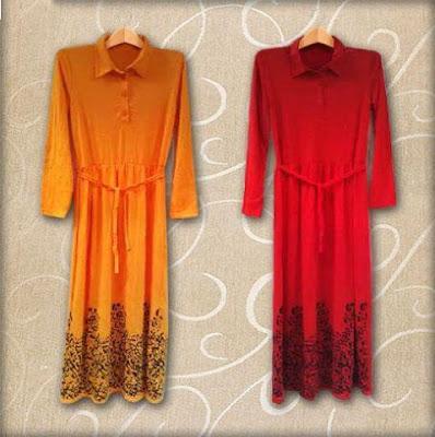 Maxi Dress Loreng Print Maxi Dress - 10004