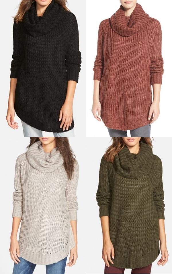 Winter fashion | cowl neck sweater