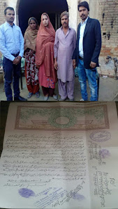 Nabila Bibi,forced conversion to Islam and marriage and her parents with LEAD's activists.