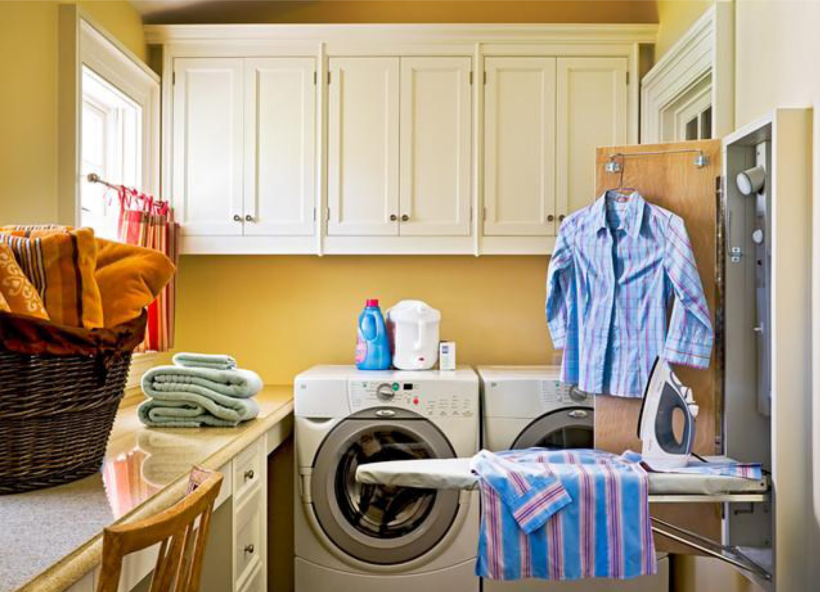 Simplifying remodeling designer 39 s touch 10 tidy laundry rooms - Ironing board solutions for small spaces ideas ...