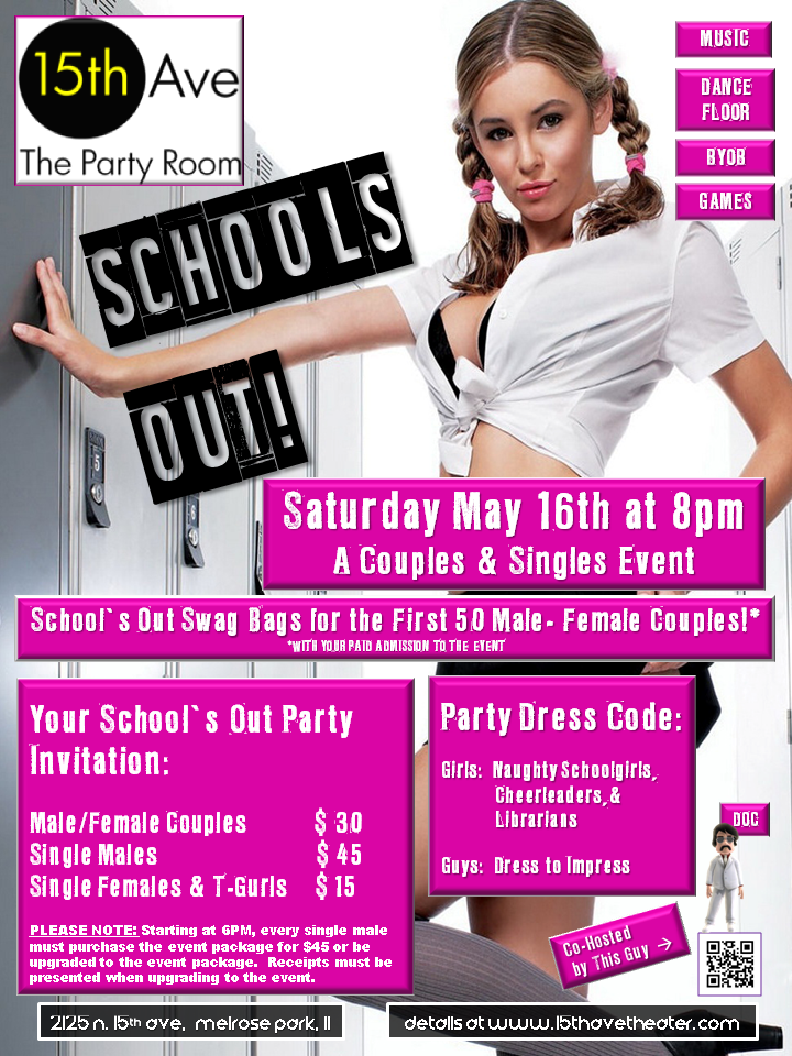 Next 15th Ave. Theater Party in Chicago: School's Out!
