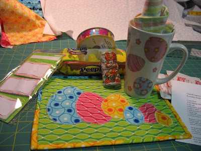 Easter Mug Rug Swap goodies