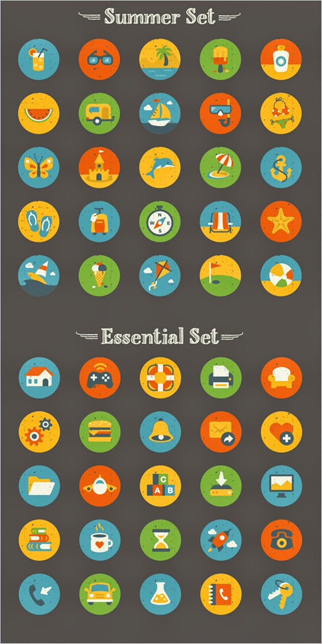 Icon Set (50 Icons, EPS, AI, PNG)