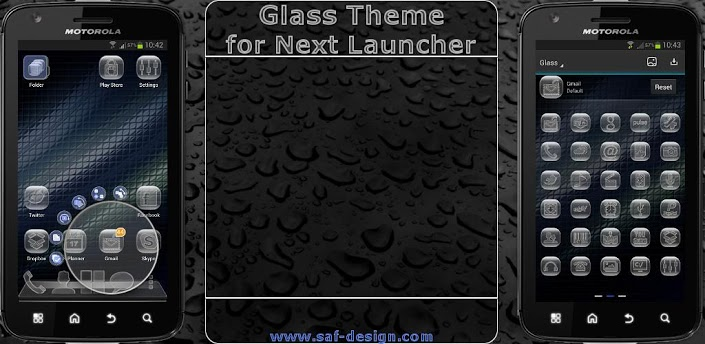 Next Launcher v1.01 APK Android Glass Theme [Full] [Free]