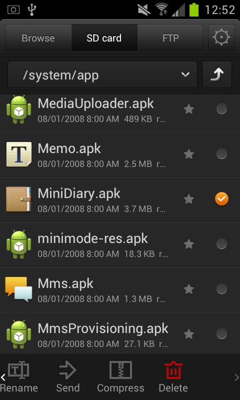 delete system apk