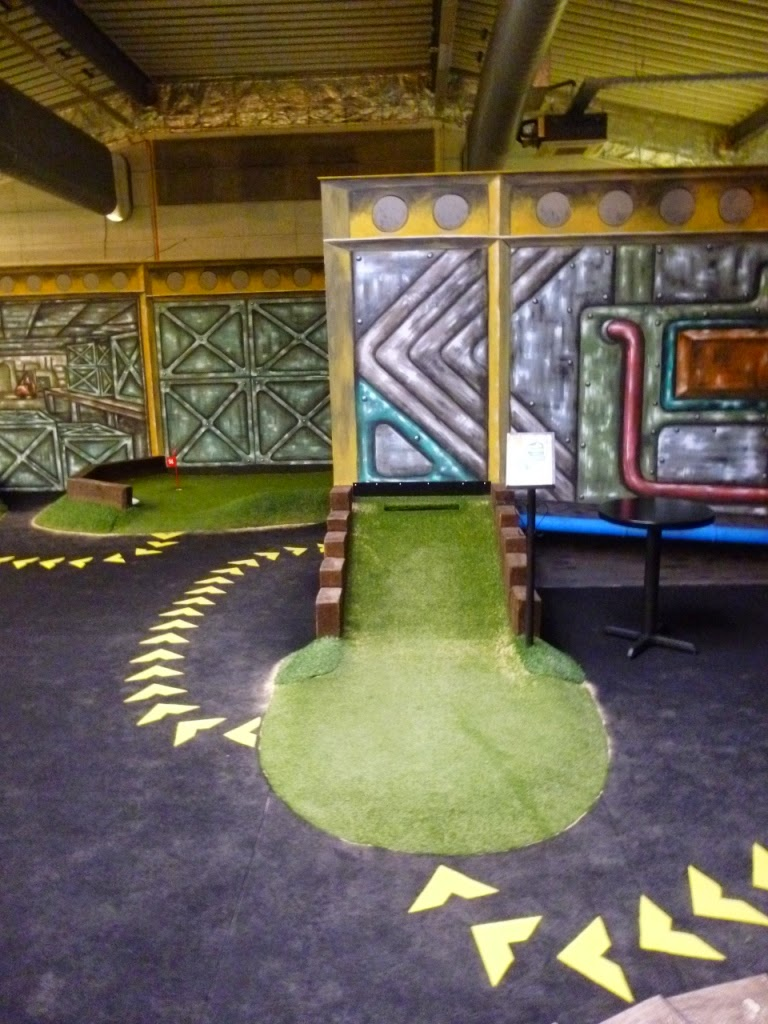 Crazy Golf at The Golfing Holf indoor Adventure Golf course in Swindon