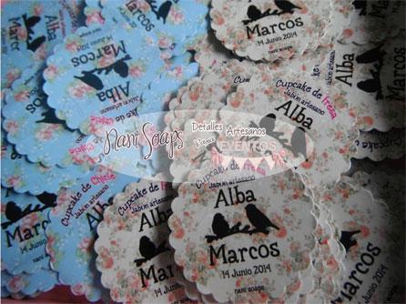 detalles boda etiquetas personalizadas