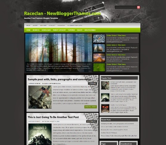 Raceclan - Three Column Blogger Template