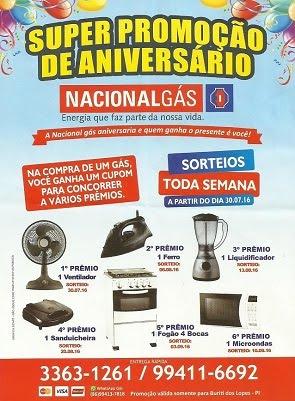 ANIVERSÁRIO NACIONAL GÁS DE BURITI DOS LOPES