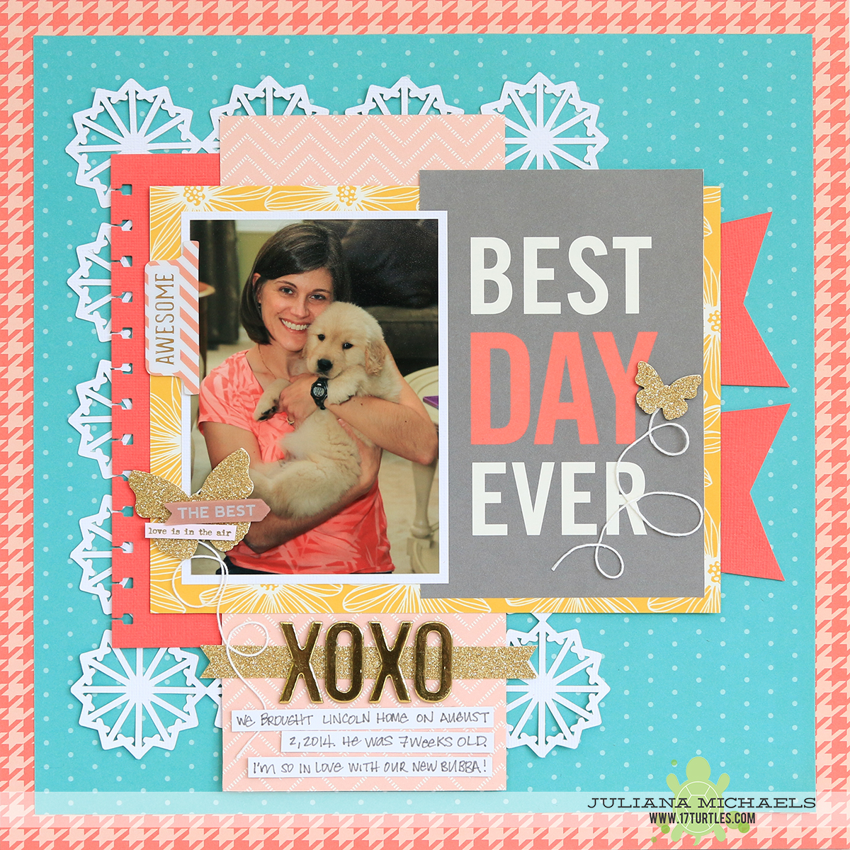Best Day Ever Scrapbook Page by Juliana Michaels