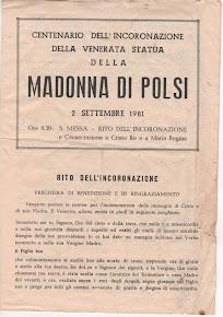 MADONNA DI POLSI  - CENTENARIO DELL'INCORONAZIONE - ANNO 1981