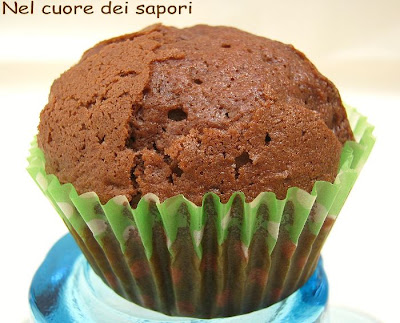muffins al cacao con gocce di cioccolato